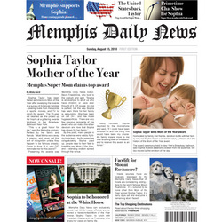Best Mom Personalized Fake Newspaper Page