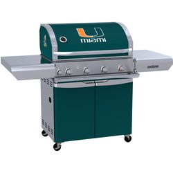 Miami Hurricanes Team Grill Patio Series MVP Gas Grill