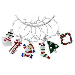 Holiday Theme Wine Charm Set