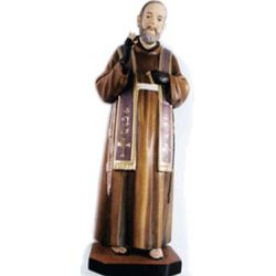 "Italian Wooden St Padre Pio Statue 12"""