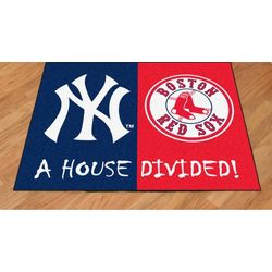 New York Yankees/Boston Red Sox House Divided Mat