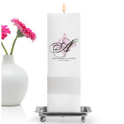 Personalized Perfect Panache Unity Candle with Stand