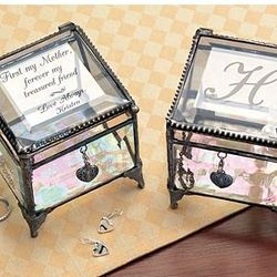Personalized Glass Trinket Box