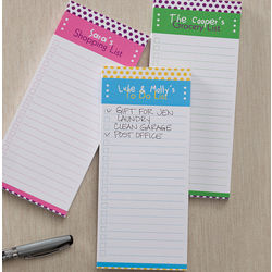 Personalized Dot to Dot Magnetic Notepads