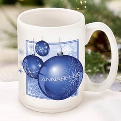 Blue Ornament Coffee Mug