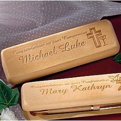 Personalized First Communion Pen and Pencil Set