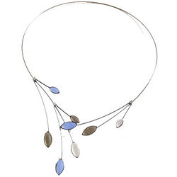 Bleu Leaf Necklace