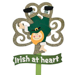 Irish At Heart Leprechaun Yard Stake