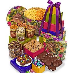 Garden Bunny Tin and 7-Tier Treat Tower