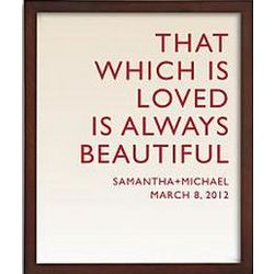 Love is Always Beautiful Framed Art Print with Red Text