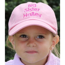 Sister Personalized Pink Baseball Hat