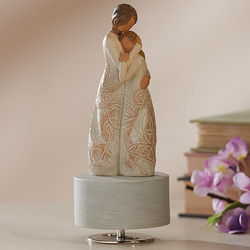 Mother and Daughter Musical Figurine