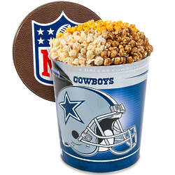 3 Gallons of Popcorn in Dallas Cowboys Tin
