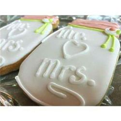 Mr. Loves Mrs. Frosted Wedding Cookie Favors