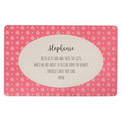 Personalized Bless Us O Lord Boho Floral Placemat