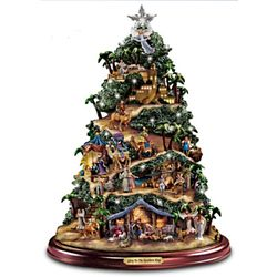Glory to the Newborn King Illuminated Nativity Tree