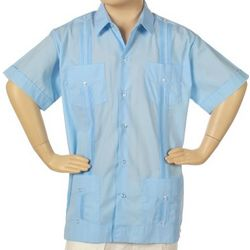 Guayabera Short Sleeve Shirt for Boys
