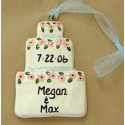 Personalized Ceramic Wedding Ornament