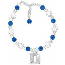 Duke Blue Devils Round Crystal Bracelet