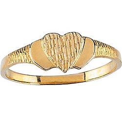 14k Gold Teen's Heart Ring