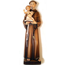 St Anthony Hand Carved Wood Statue