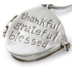 Thankful, Grateful, Blessed Locket