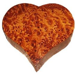 Large Heart Box in Thuya Wood