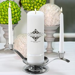 Personalized Everlasting Unity Candle Set