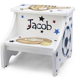 Hand Painted Sport Stool