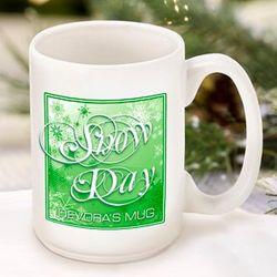 Green Snow Day Coffee Mug