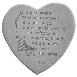 Footprints On Our Hearts Garden Stone