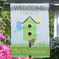 Personalized Birdhouse Garden Flag