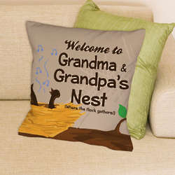Personalized Welcome Throw Pillow