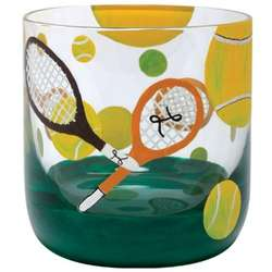 Tennis Rocks Glass