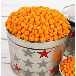 Patriotic Tin of Double Cheese Popcorn