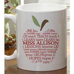 Teacher Apple Personalized Coffee Mug