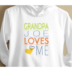 Somebody Loves Me Personalized Toddler Sweatshirt