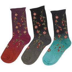 Floral Ombre Socks