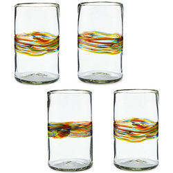 Rainbow Band Recycled Glasses