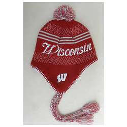 Girl's Wisconsin Braided Knit Hat