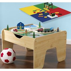 2 in 1 Train Table and Lego Play Board