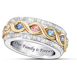 Personalized Family Is Forever Ring