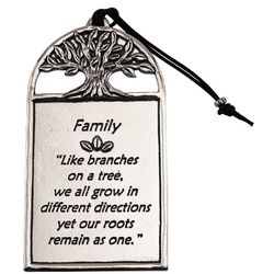 Family: Like Branches On a Tree Pewter Plaque