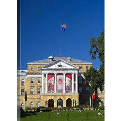 University of Wisconsin Madison Bascom Hill Canvas Art Print