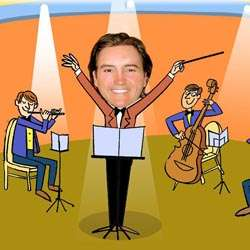 Your Photo in a Symphony Conductor Caricature