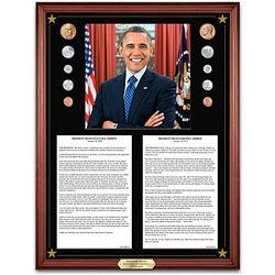 President Barack Obama Inaugural & Farewell Addresses Plaque