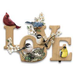 Love in Bloom Sculptural Songbird Wall Decor