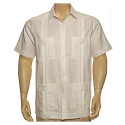 Men's Irish Linen Plus Guayabera Short Sleeve Shirt