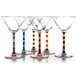 Capri Hand Painted Martini Glasses
