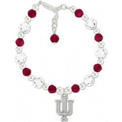 Indiana Hoosiers Round Crystal Bracelet